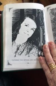 Vera Oredsson ung i bok